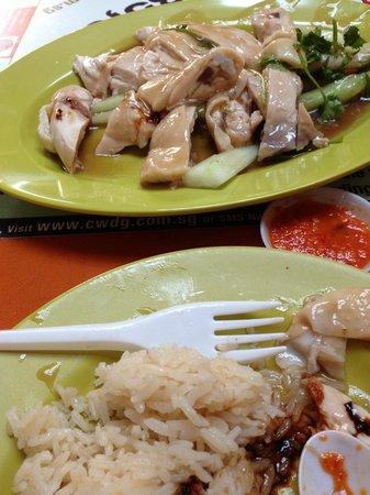 Tian Tian Hainanese Chicken Rice : Succulent chicken. . .