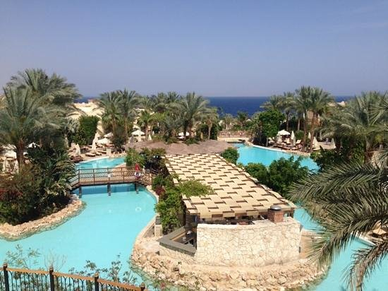 The Grand Hotel Sharm El Sheikh: view from terrace bar