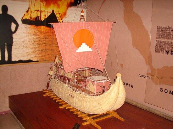 "The Kon-Tiki Museum : Уменьшеная копия лодки ""Тигрис"""
