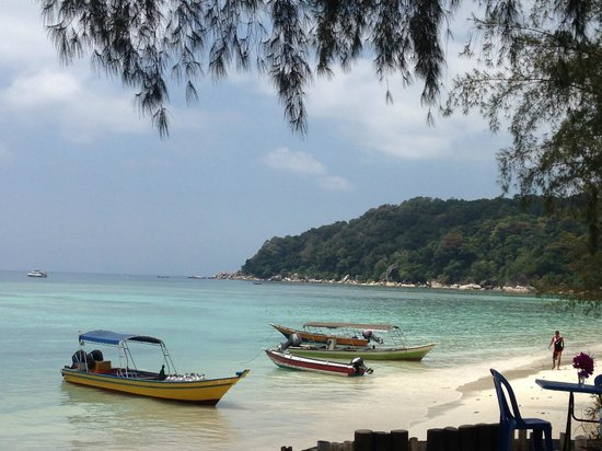 Bayu Dive Lodge : Beach and water taxis