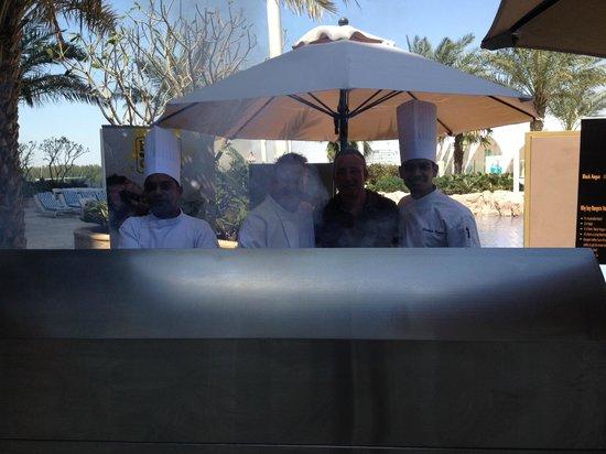Blue Grill : Head Chef Sandeep Kumar and myself