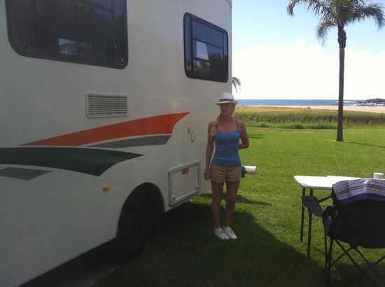 BIG4 Easts Beach Holiday Park: Ideal pitch by the sea
