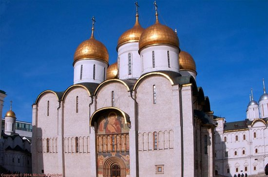 Moskauer Kreml: Dormition Cathedral of the Moscow Kremlin - South Gate