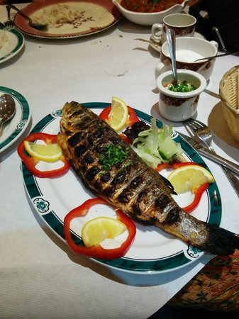 Pasha Restaurant: a very nice sea bass with lovely sause and rice