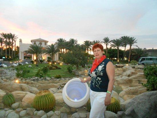 Radisson Blu Resort, Sharm El Sheikh: На заднем плане -входная группа, въезд в отель