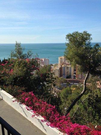 Parador de Malaga Gibralfaro: View from our room on the 1st floor.