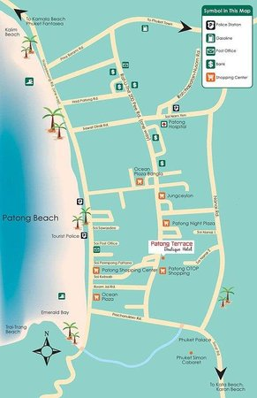 Patong Terrace Boutique Hotel: ..in the middle of Patong Beach...