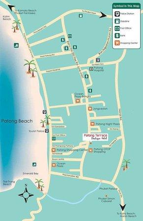 ป่าตองเทอร์ราเซบูทิคโฮเต็ล: ..in the middle of Patong Beach...