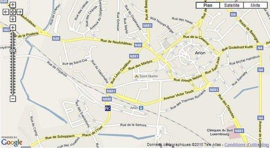 Appart'City Arlon - Porte du Luxembourg** : Map