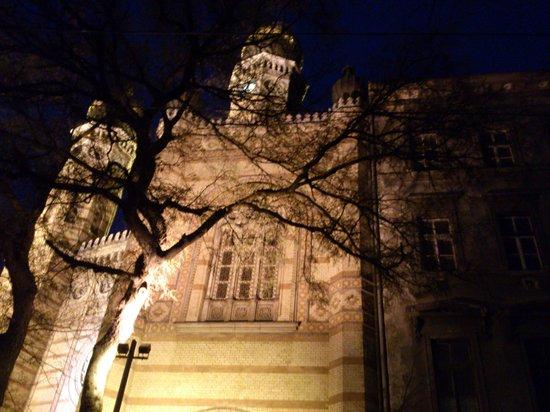 Gran Sinagoga: Budapest - synagogue by night