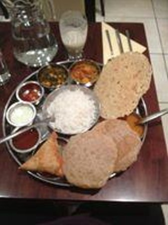 Jyoti's Thali - a full meal for £11