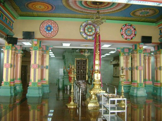 Sri Maha Mariamman Temple: A view of the sanctum with the main door closed