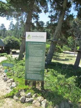 Timberlake Organic Village: Entrance to Timberlake