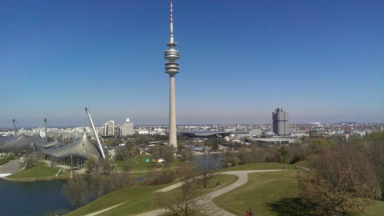 Olympiapark: View from top of 'the hill'