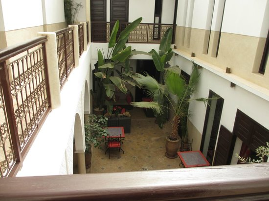Riad Badi: The courtyard as seen from our bedroom door