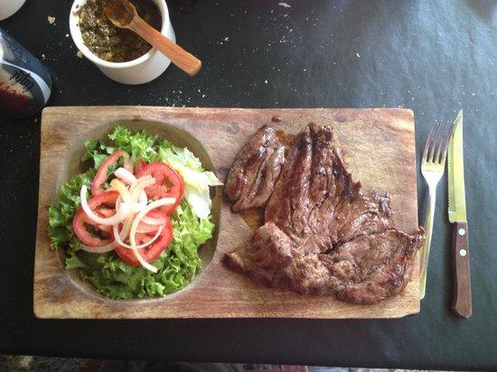 """El Hornero Parilla Argentina: a juicy """"Vacio"""" steak"""