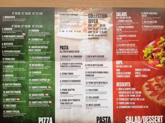Pizza Menu Content April 2014 Picture Of Smokey Pizza