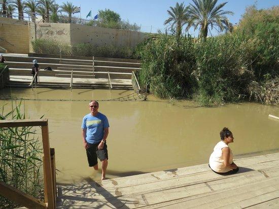 Jordan River Baptismal Site: The Jordan (West Bank behind)