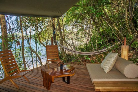 The Resort at Isla Palenque: The lounging platform at a Promontory Tented Suite