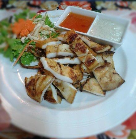 Kwong Shop Seafood: Inktvis van de BBQ