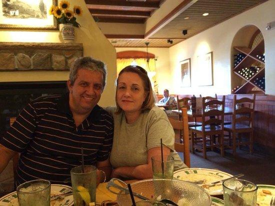 Almoço no restaurante Olive Garden