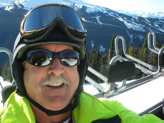 Whistler Blackcomb: Selfie on Chairlift