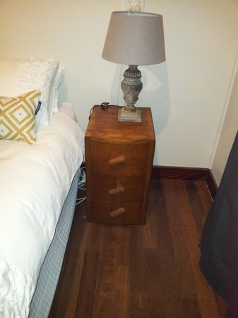 Bella's Country Place: Bedside lamp and drawers