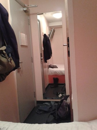 easyHotel London Victoria: Room from bed - not much space!