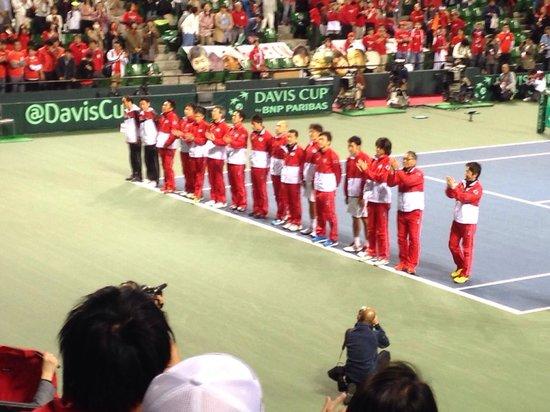 Ariake Tennis Forest Park: テニス デ杯日本代表
