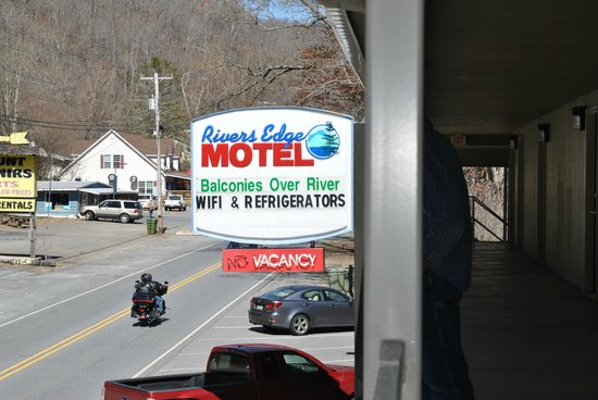 River's Edge Motel sign