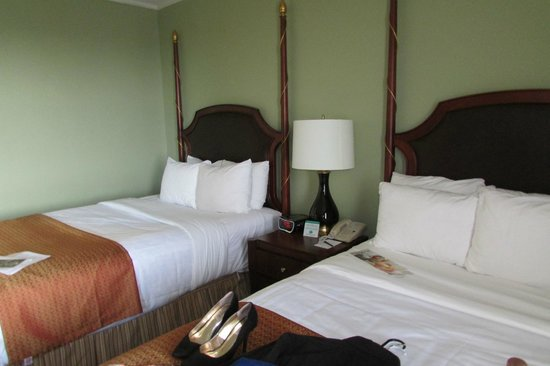 Francis Marion Hotel: the room-their king rooms were booked so we got two fulls