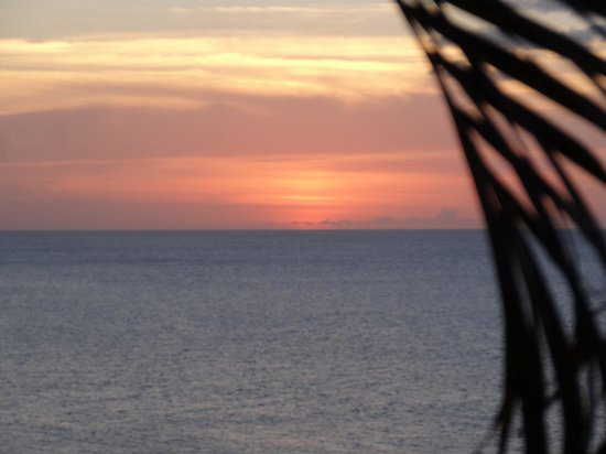 Sandals Regency La Toc: Sunset from the bluff