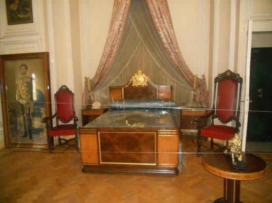Ethnological Museum: Halie Selassie's bedroom