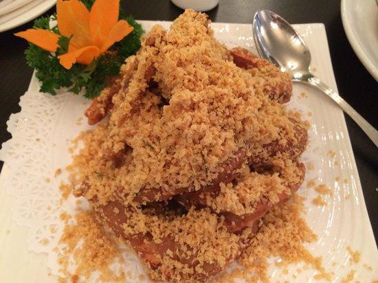 No Signboard Seafood : Oatmeal prawn