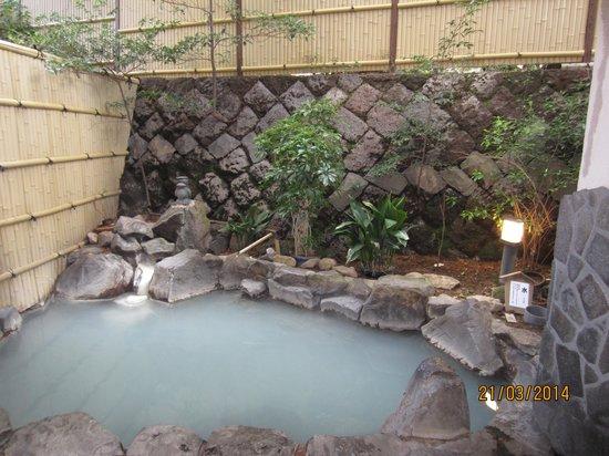 Unzen Iwaki Ryokan: outdor onsen