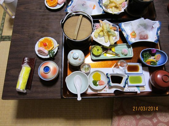 Unzen Iwaki Ryokan: my dinner