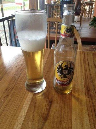 Restaurante Cafe Mediterraneo: Ice cold beer