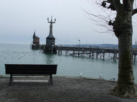 Constance Harbour: Bench over-looking the harbour entrance