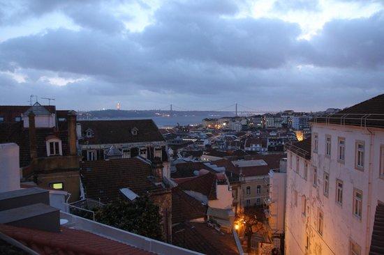 Solar dos Mouros : Vue sur le Tage des chambres du bas.