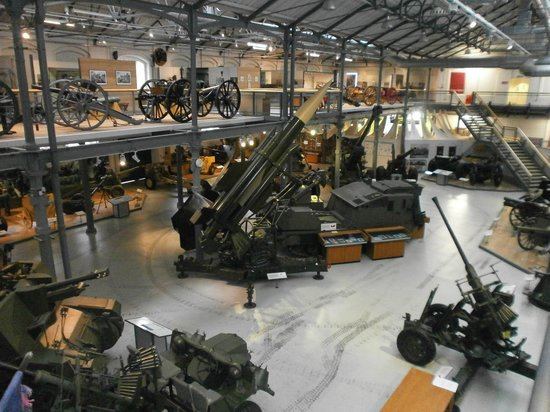Firepower The Royal Artillery Museum: Looking down into the Gunnery Hall