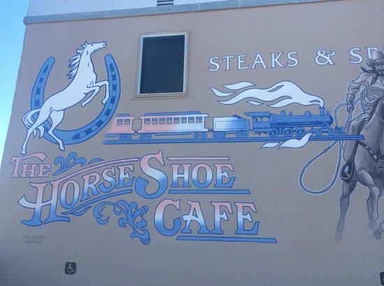 Mural on the side of the Horseshoe Cafe, Benson, Arizona
