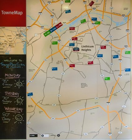 Towne Map - Picture of TownePlace Suites by Marriott Baltimore BWI on