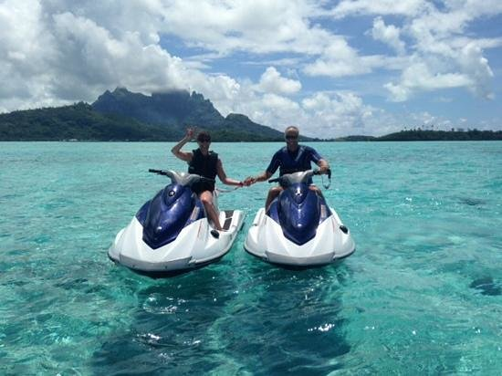 Four Seasons Resort Bora Bora: wave runners in Bora Bora