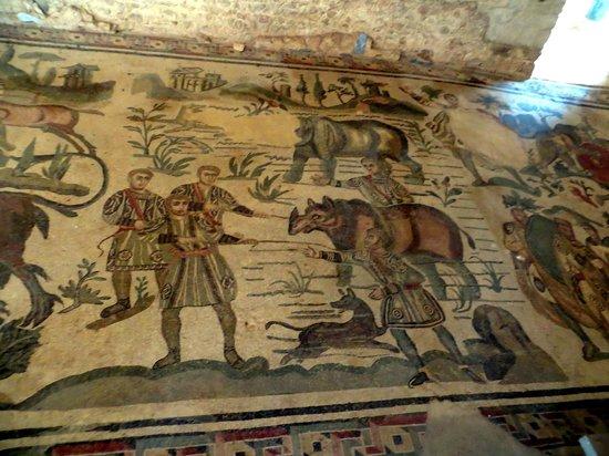 Villa Romana del Casale: Wandelhalle Große Jagd