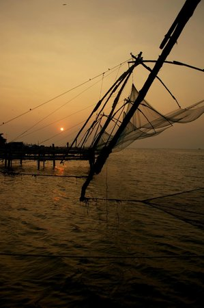 Malabar House: The beautiful Chinese Fishing Nets of Ft. Cochin.  I walked from the hotel.