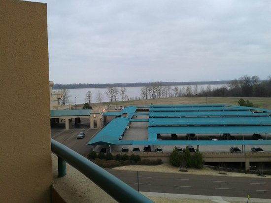 Fitz Casino and Hotel: View of Mississippi river from balcony