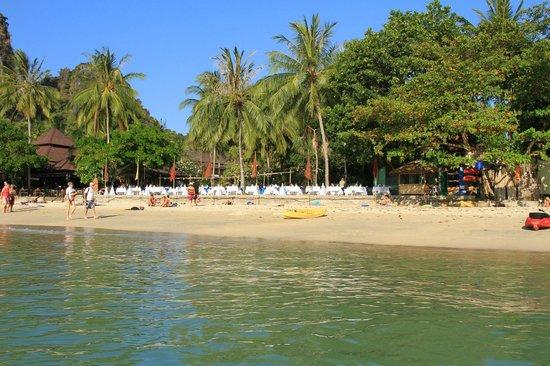 Railay Bay Resort & Spa: Отель со стороны моря