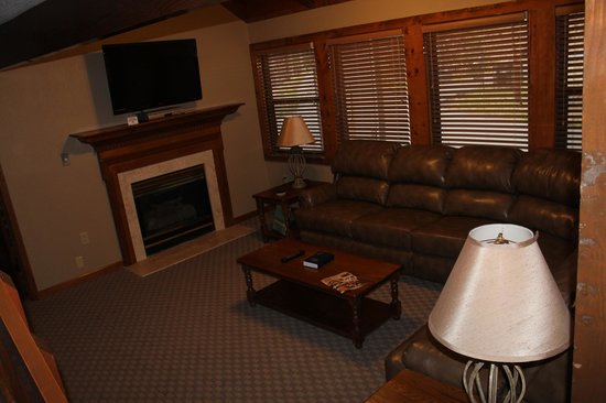Tree Tops Resort: wonderful gas fireplace & updated furniture