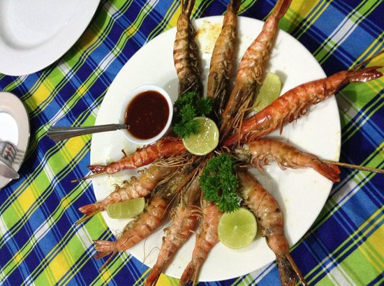 Rohans Place: Grilled prawns.