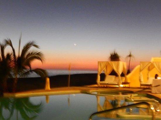 Casa Velas: Beach Club at Sunset